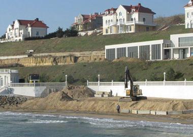 Реконструкция подпорной стены завершена 2017
