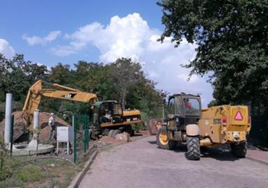 Ремонт канализационной системы поселка