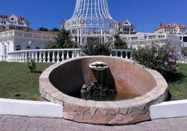 На центральной обзорной площадке заменен насос в фонтане